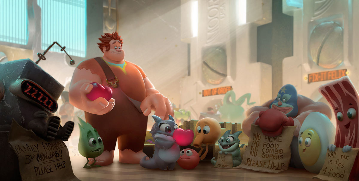 Concept Art Wreck It Ralph Moment In Game Central Station