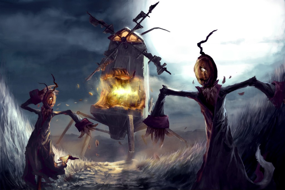 Dark Scarecrow Art