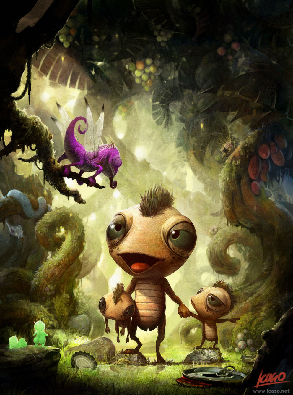 Digital Painting: Alien's Picnic - 2D Digital, Digital ...