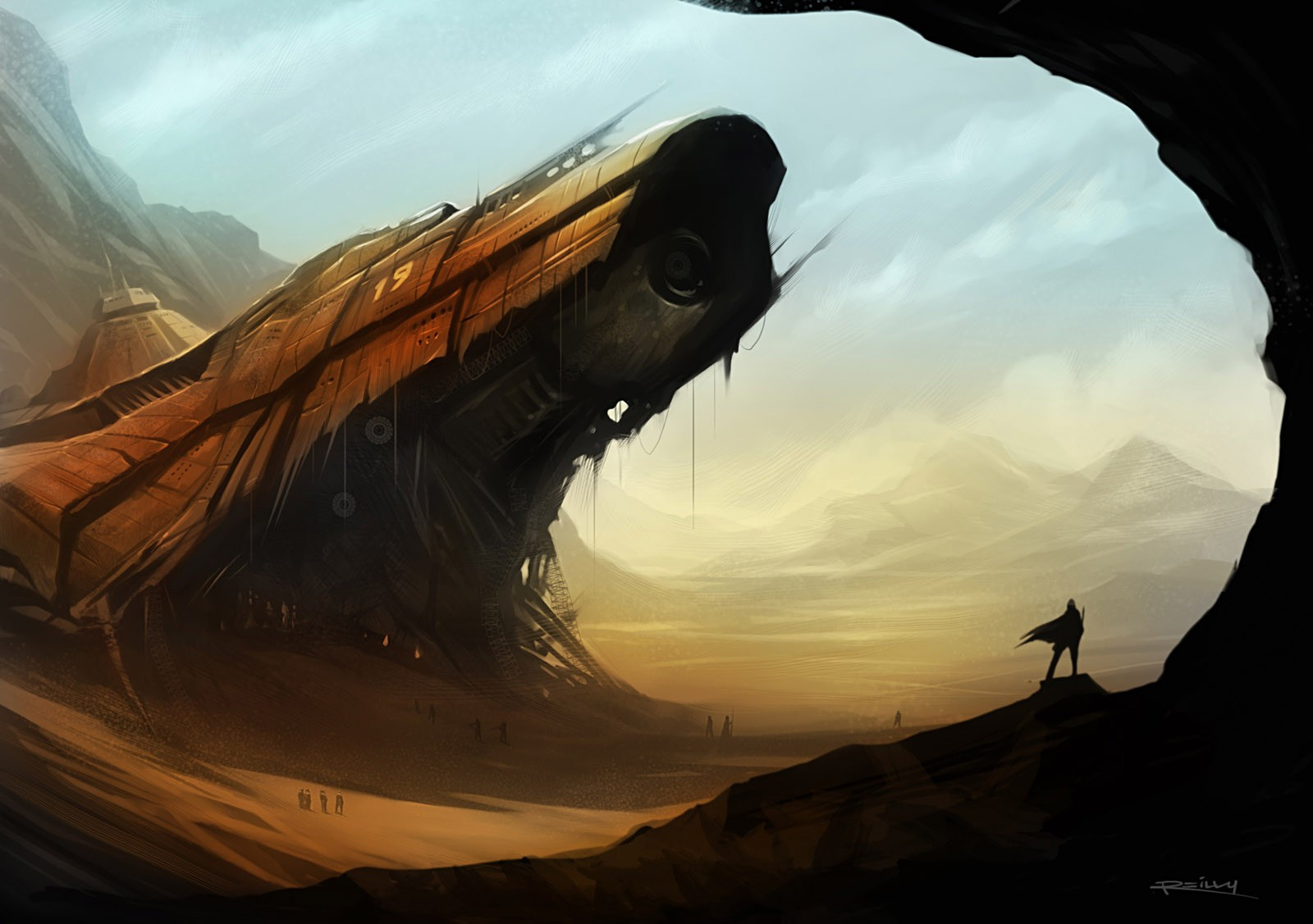 Sci-fi Art by Patrick Reilly , United States. Download full-size image ...