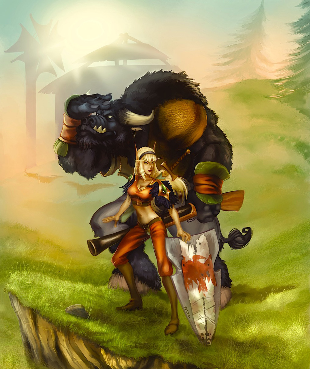 Tauren railing a blood elf hentai pics