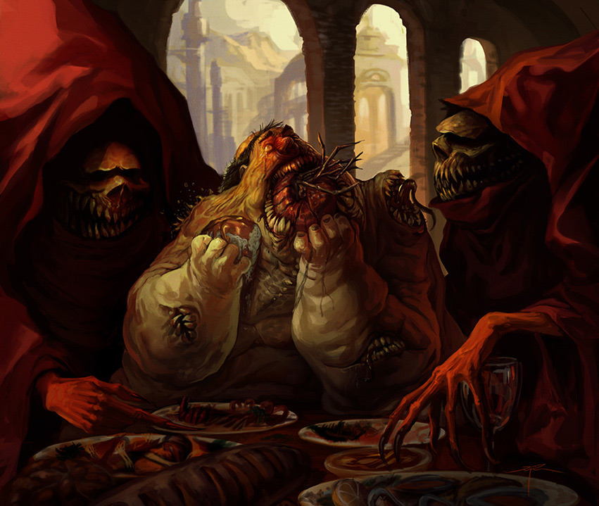 Digital Painting Alejandro MGNZ Gluttony