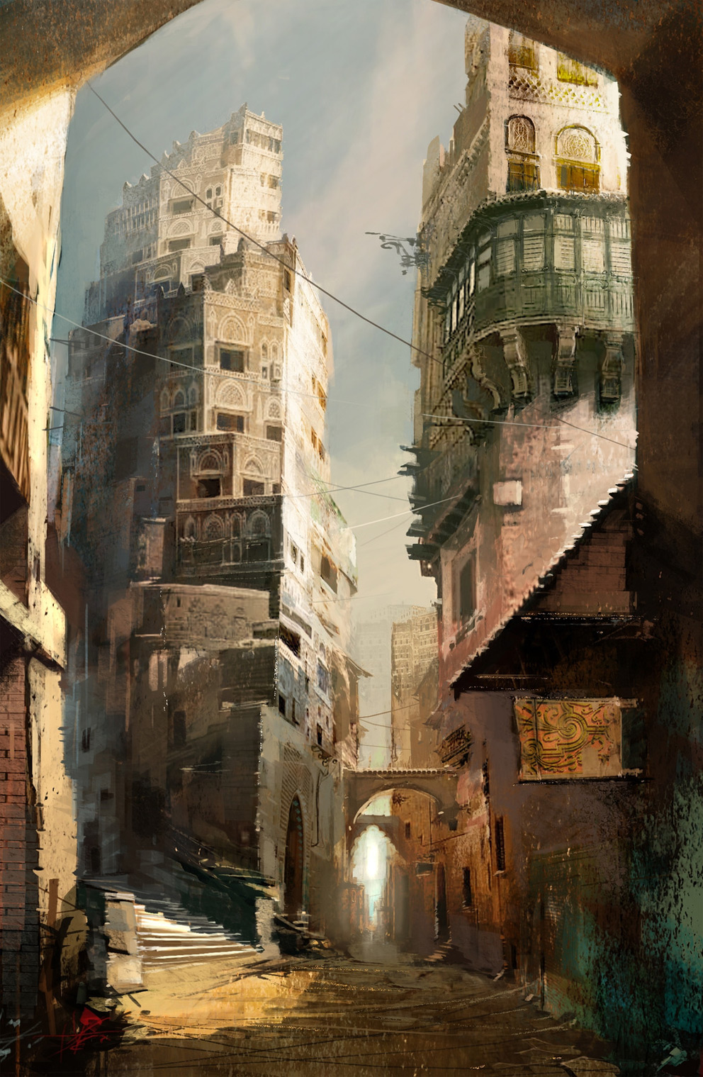 Digital Painting Daniel Dociu Crescent Street