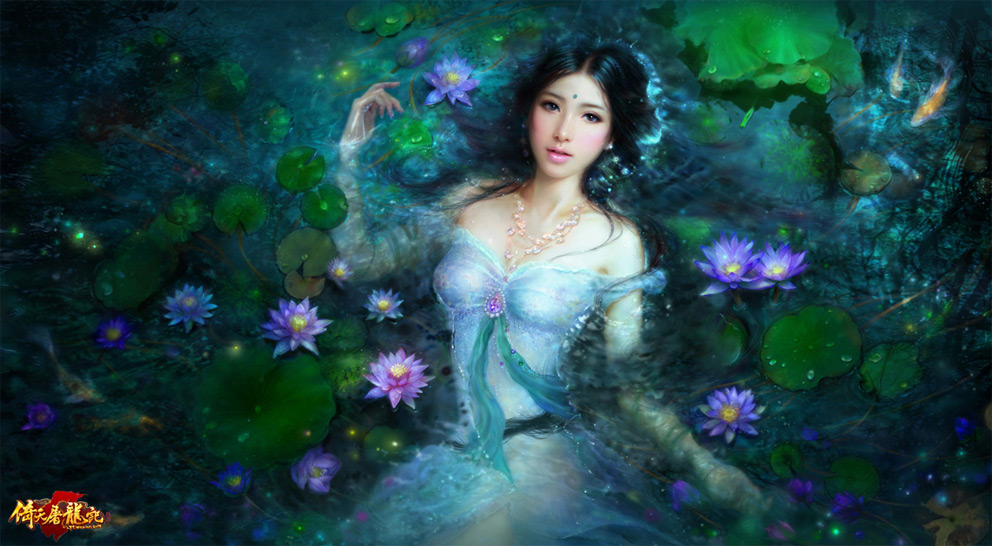 Digital Painting Ruoxing Zhang Mystery Girl