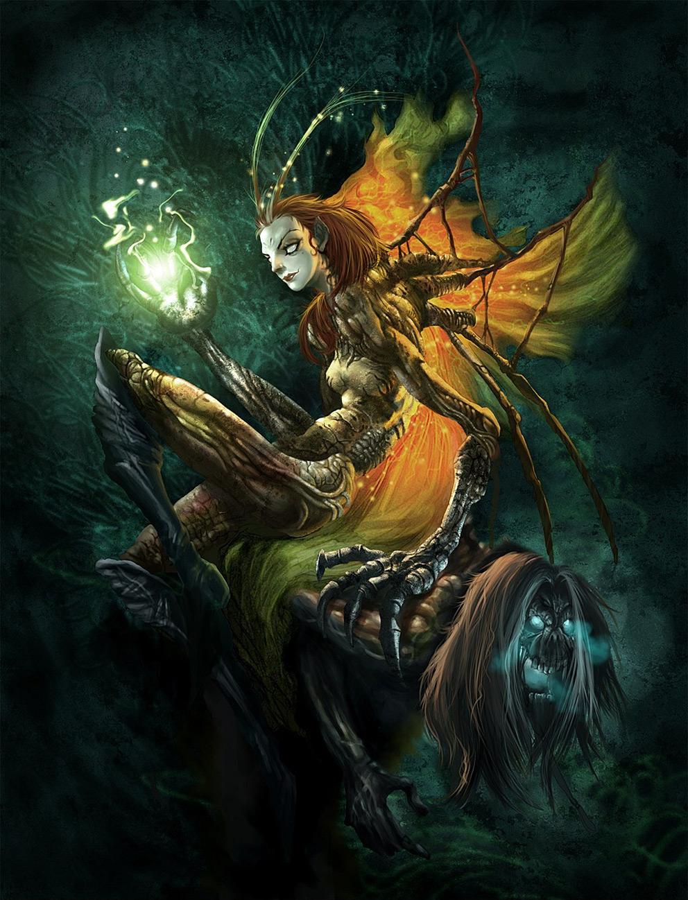 Fantasy Art Mantis Queen 2d Digital Concept Art Fantasycoolvibe Digital Art
