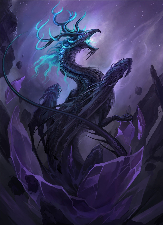 fantasy art dark kirin 2d digital concept art