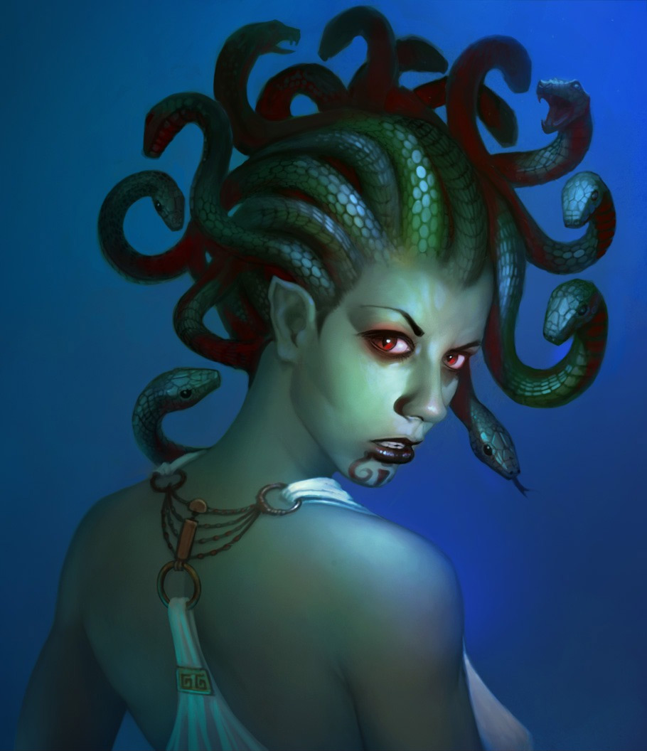 Fantasy Art Phil Wohr Medusa's Beauty