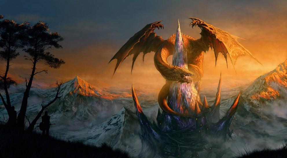 Fantasy Art Dragon Castle