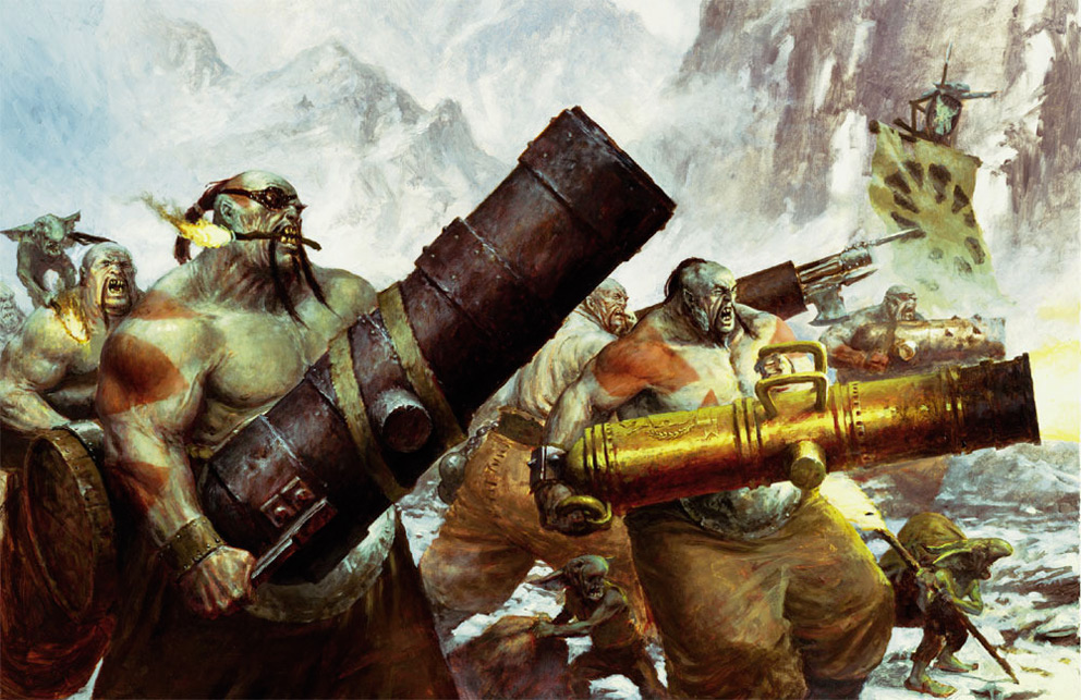Fantasy Art paul dainton ogre cannons