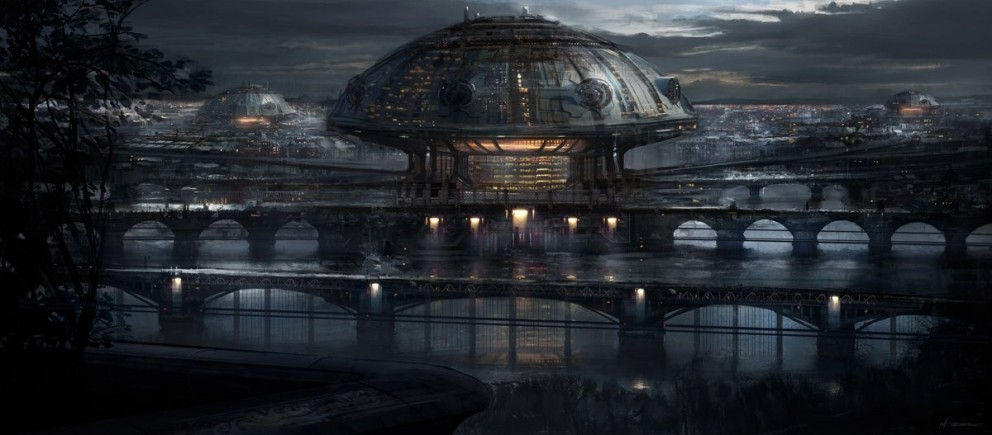 Sci-fi Art Michael Tassie The Dome