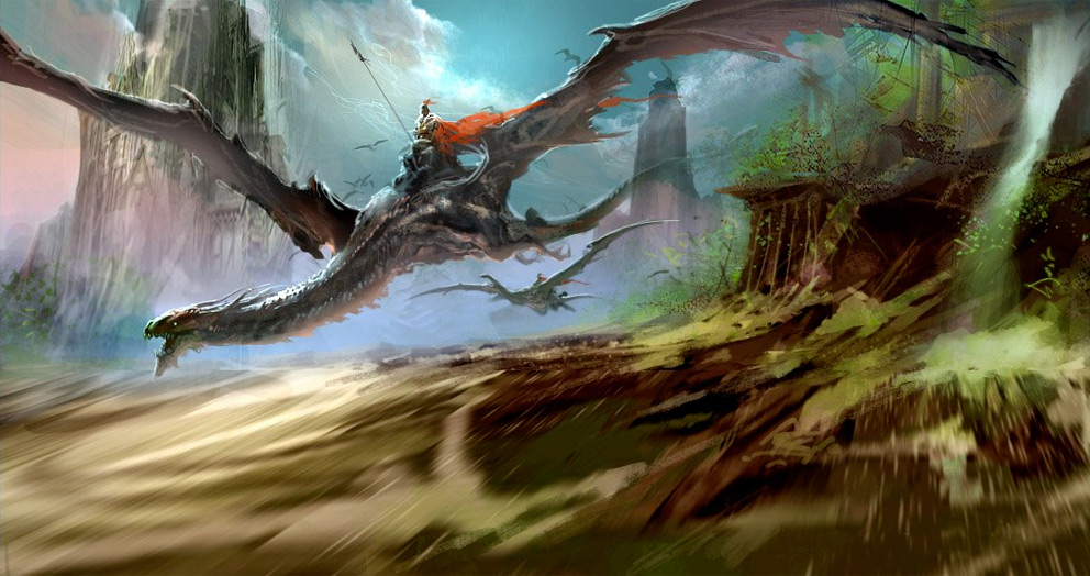 Digital Painting Dragon  2D Concept Art