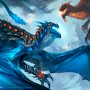 Fantasy Art Luke Mancini Azure Skyrazor