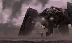 Sci-fi Art: Drop Ship Touchdown