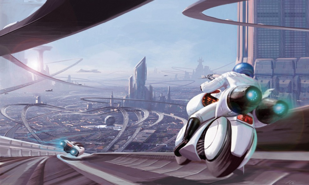 Sci-fi Art Peter  Oedekoven LAX Freeway 101