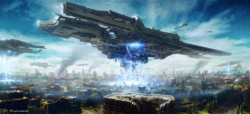 Sci-fi Art Seung Jin Woo Invasion