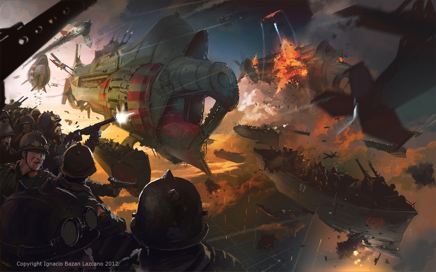 2D Art: The Army in the Sky - 2D Digital, Concept art ...