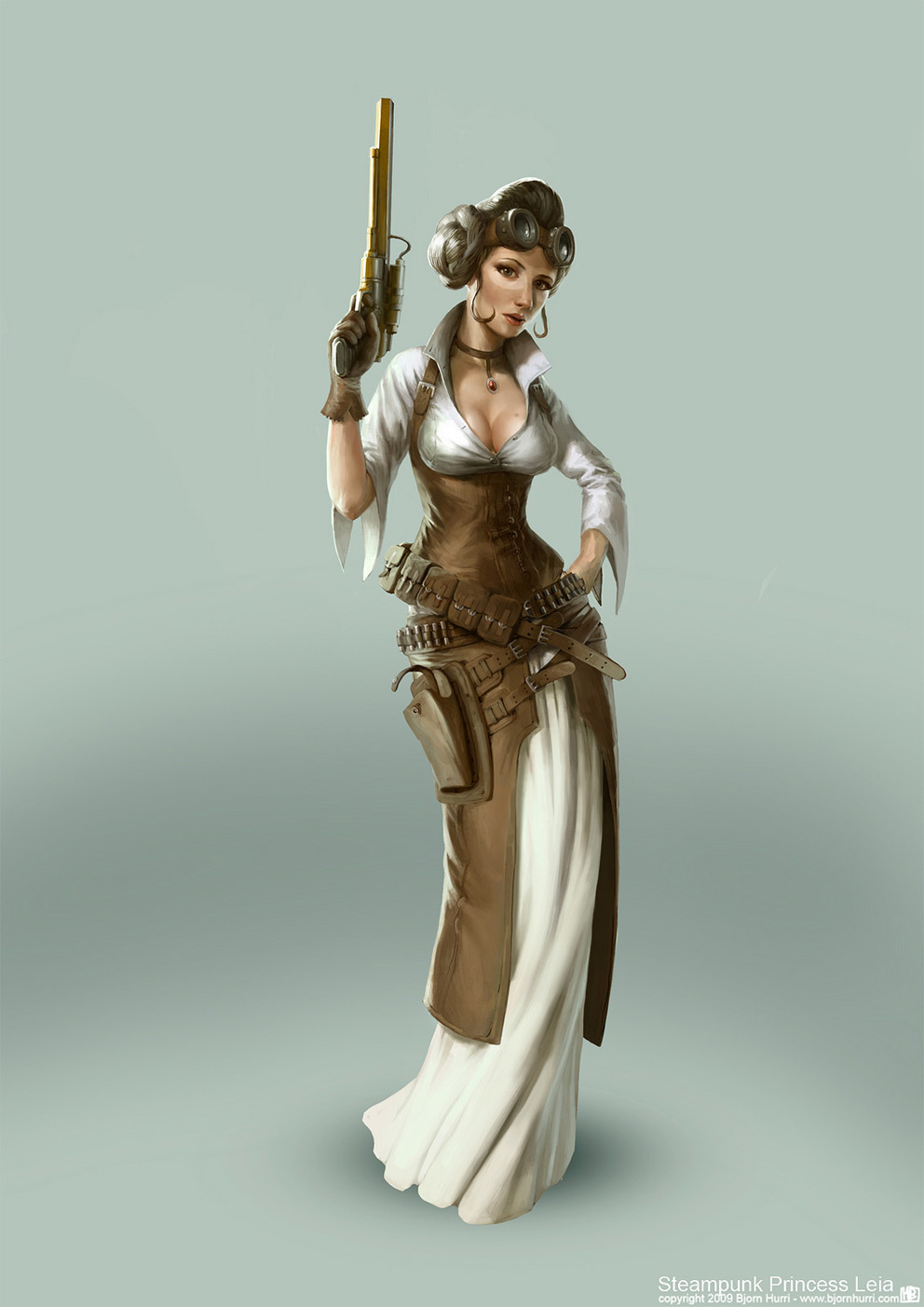 Character Design Bjorn Hurri Steampunk Star Wars Leia