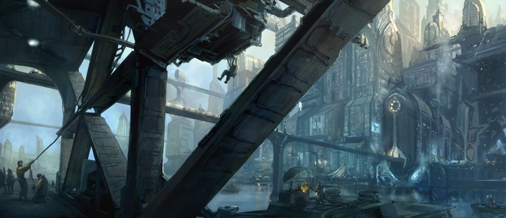 Concept Art Rasmus  Berggreen Another Day in the City