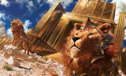 Digital Painting: Lions of Sun Gate
