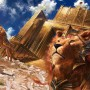 Digital Painting Johannes Voß Lions of Sun Gate