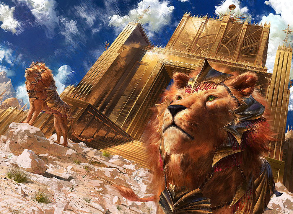 Digital Painting Johannes Vo Lions of Sun Gate