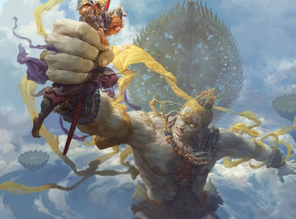 Digital Painting Fenghua Zhong Buddha Palm