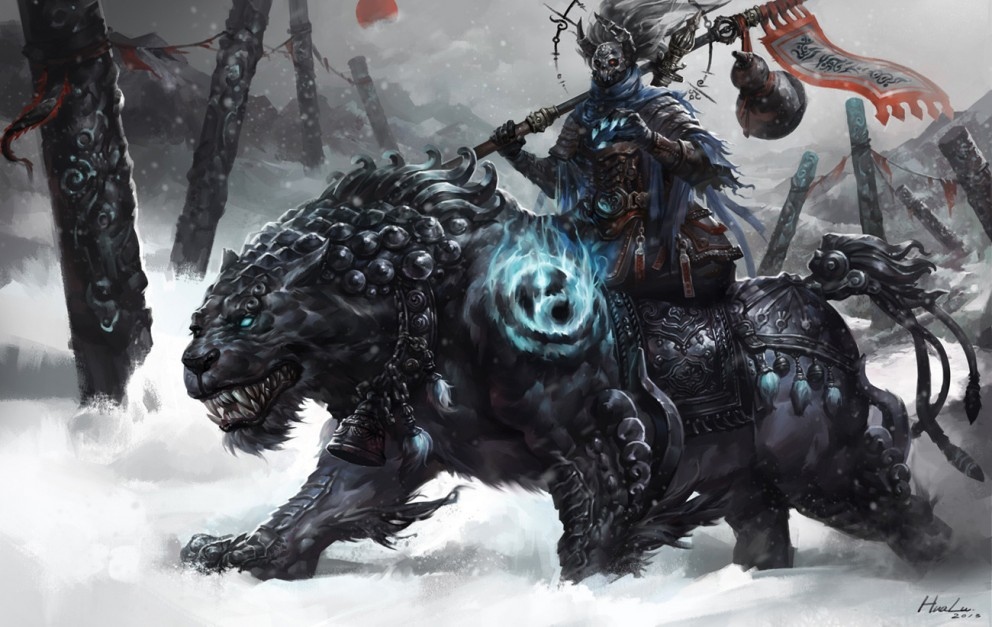 Fantasy Art Lu Hua Black Tiger