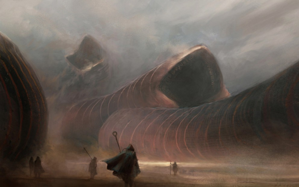 Sci-fi Art  A.J. Trahan Sandworms