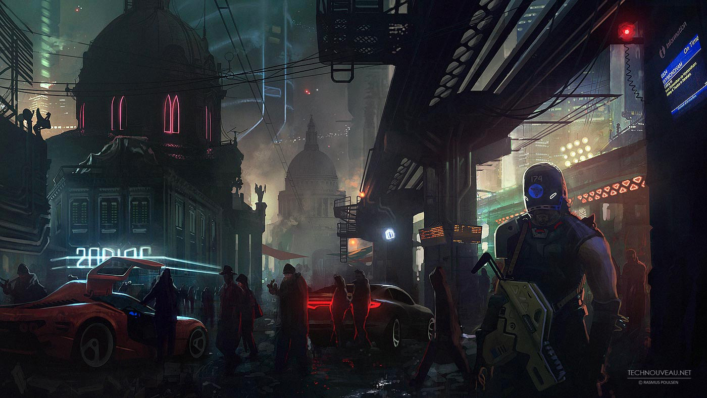 Sci-fi Art: Cold City - 2D Digital, Sci-fiCoolvibe ...