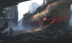 2D Art: Post-apocalyptic Biker Bar