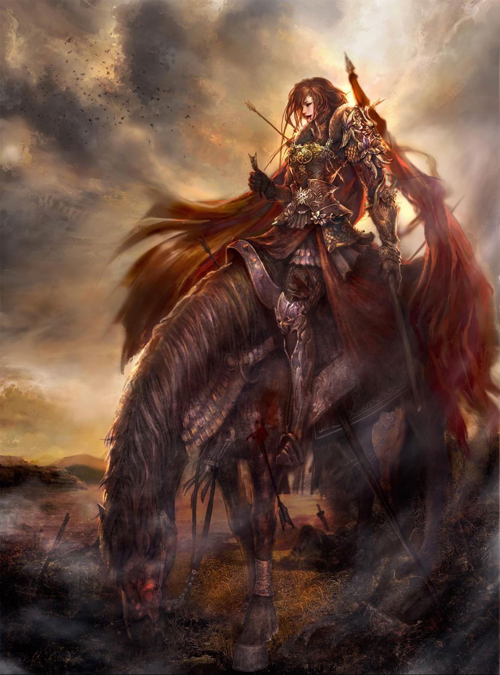 fantasy art heroic woman 2d digital digital paintings
