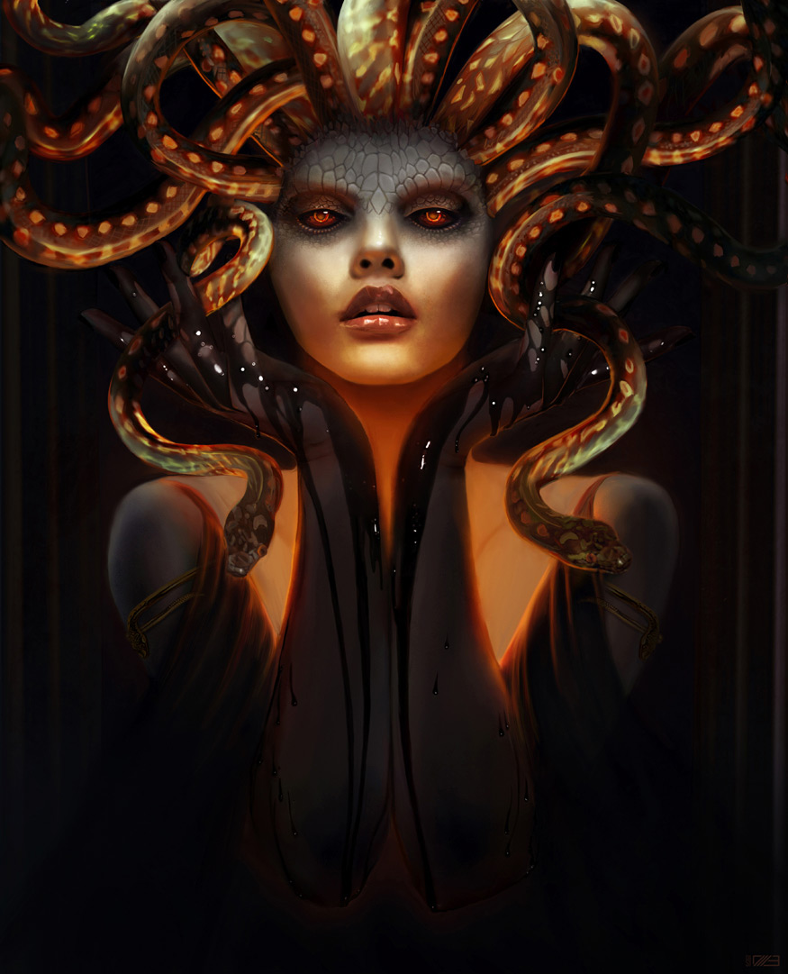 Fantasy Art Medusa 2d Digital Digital Paintings