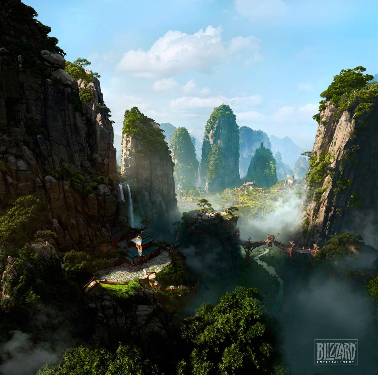 Fantasy Landscape Wallpaper: Video Game Art: WOW