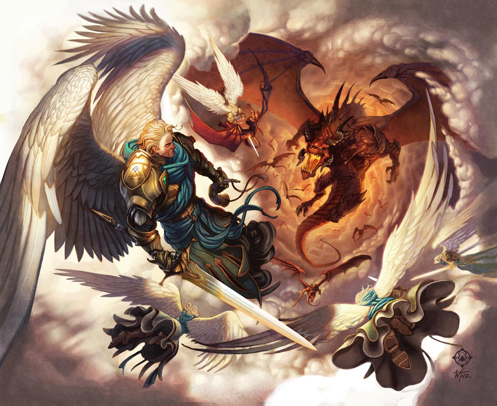Digital Painting War In Heaven  2D