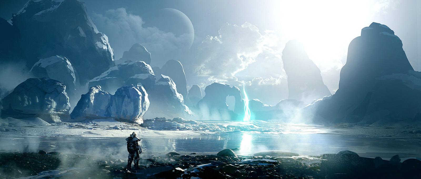 2D Art: Ice Planet - 2D Digital, Scenery/Landscapes, Sci