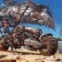 Sci-Fi Art Ignacio Bazán Lazcano Desert Bike Rebel Camp