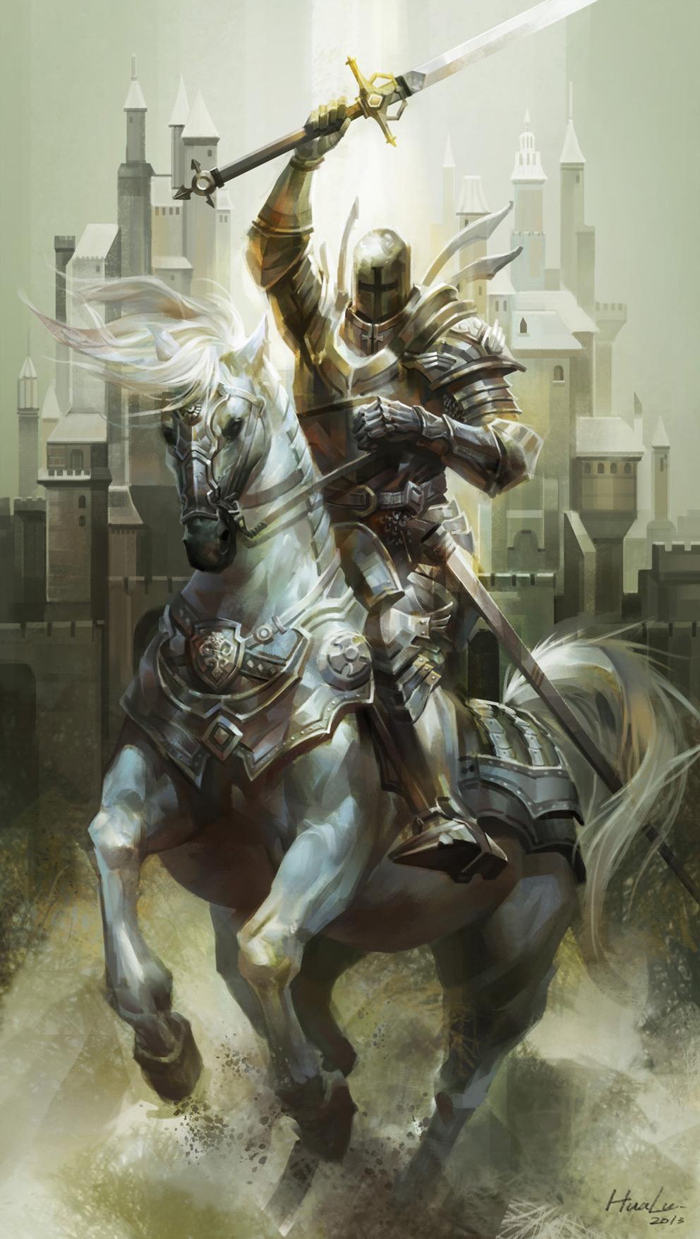 2D Art: White Knight - 2D Digital, FantasyCoolvibe ...