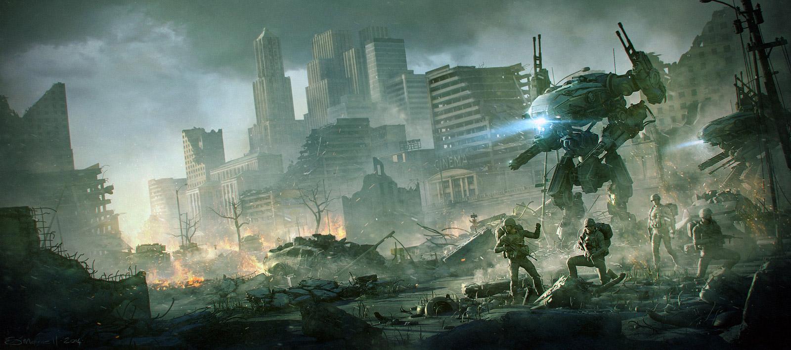 [GSU] Operation Omega Defense Sci-Fi-Art-Stefan-Morrell-City-Ruined