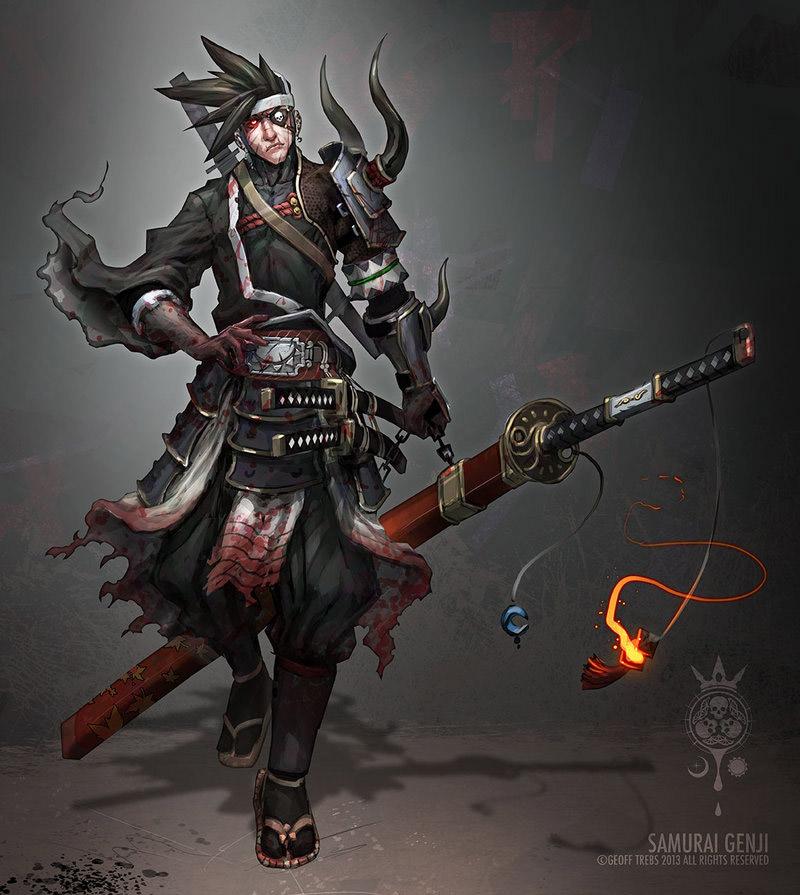Concept Art Samurai Genji Genji Lvl