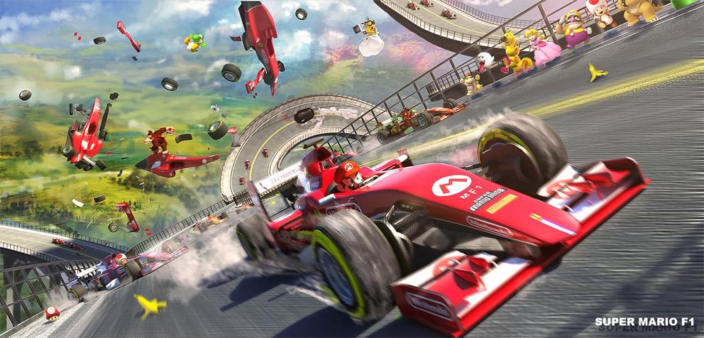 Video Game Art Super Mario F1 3d Videogamescoolvibe Digital Art